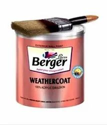 Berger Weather Coat Acrylic Emulsion Paint, Packaging Size: 4 Litre, Packaging Type: Tin Can