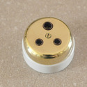 Antique Style 3 pin Brass Socket