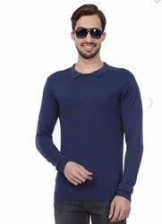 100% Acrylic Blue Peter England Sweater