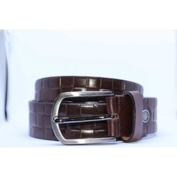 Romolo Textured Brown Leather Belt