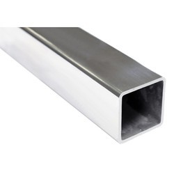 silver Stainless Steel Square Pipe 316 TI, Size: 2 Inch