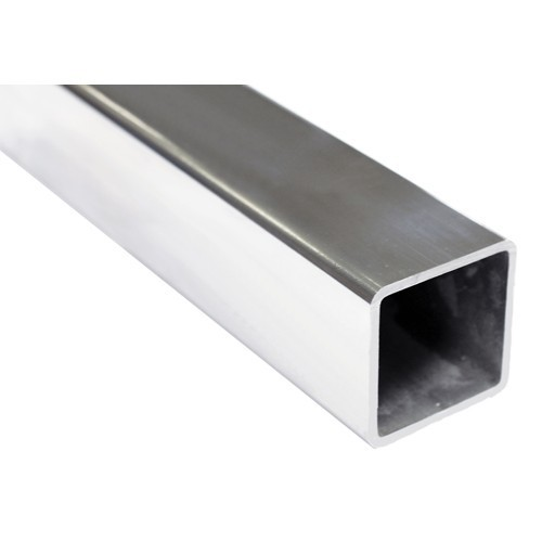 Silver Stainless Steel Square Pipe 316 TI, Size: 2 Inch ...