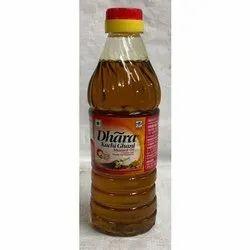 500 mL Dhara Kacchi Ghani Mustard Oil, Packaging Type: Plastic Bottle