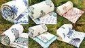 Cotton Quilt Handmade Block Printed Blanket Razai