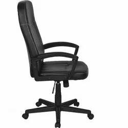 Leather Black Revolving Chair