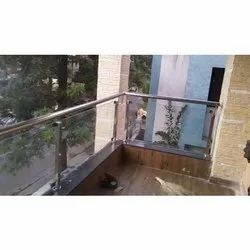 Stainless Steel Toughened Glass Balcony Railings for Home