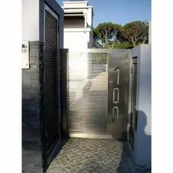 Polished Home Stainless Steel Door, Material Grade: SS304
