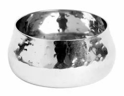 Sharda Corporation Polished Sovereign Chutney Bowl Hammered, For Home, Size: Not Specified