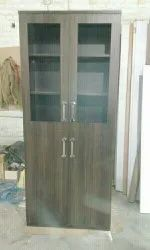 Wooden Glass Door Almirah
