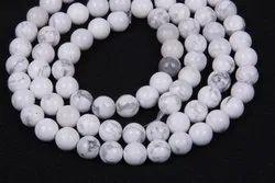 Howlite Plain Round Beads