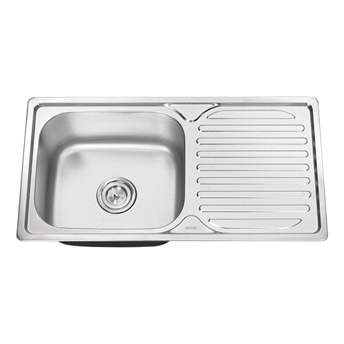 Single Bowl Stainless Steel Sink With Drain Board 8143dt 202