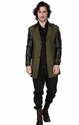 Cotton Blend Jersey Dheerajsharma Olive Green Trench Coat
