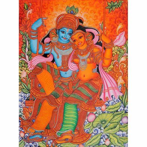 Mural Painting Wall Krishna Mural Painting Manufacturer From Ernakulam