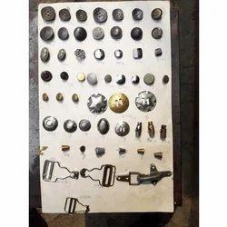 Metal Button, Round