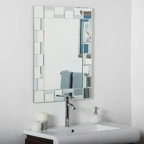 Designer Glass Mirrors For Bathroom, Mirror For Bathroom