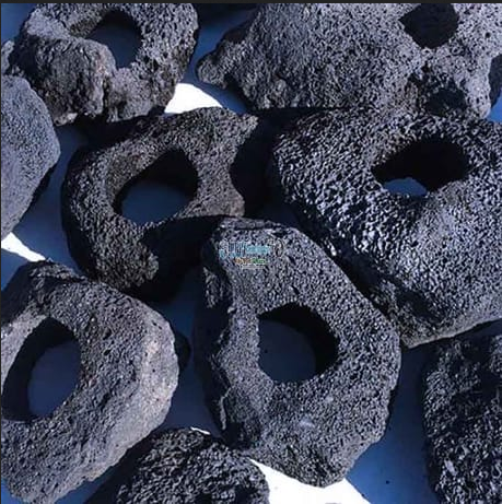 Black Volcanic Holey Lava Stone For Planted Aquarium