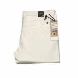 Kadls 34 Mens White Plain Trouser