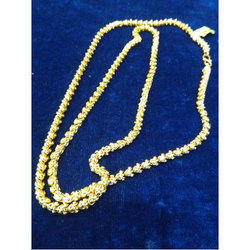 Plain Gold Plated Neck Chain, Packaging Type: Box