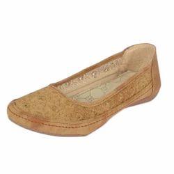 Brown Ladies Belly Shoes, Packaging: Box