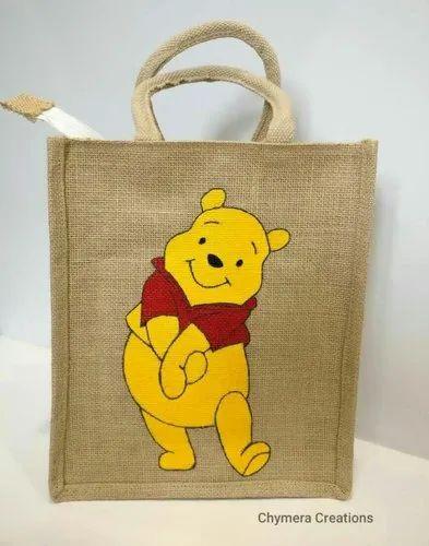 Cartoon Jute Bag At Rs 60 Bag Fancy Jute Bag Id 20589246712