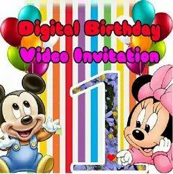 Visual Effect Digital Birthday Invitations