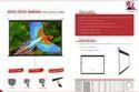 Wall Mount Black Auto Lock Manual -projection Screen, 169 & 43
