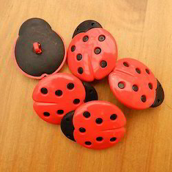 Black, Red BBS Stylish Cloth Button