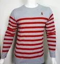 Striped Full Sleeve Round Neck T Shirt