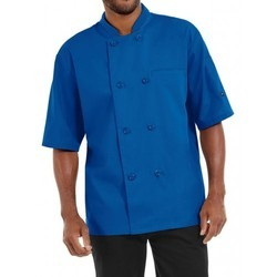 Chef Coat Short Sleeve Royal Blue