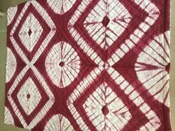 Designer Burgundy Maroon Shibori Quilted Cotton Quilts