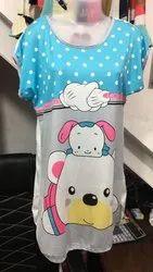 Printed Half Sleeves Ladies Top