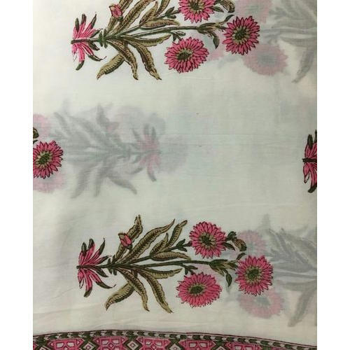 Cotton Hand Block Printed Fabric, GSM: 100-150