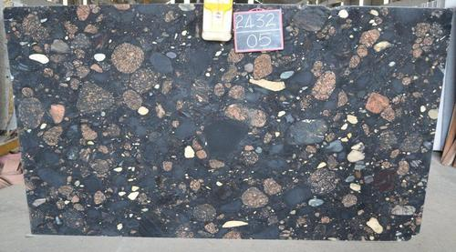 Granite Stone Black Marinace Granite Slab, Usage: Flooring, Countertops, Wall Tile