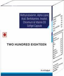 Methylcobalamin Alpha Lipoic Acid Benfotiamine Inositol Chromium and Vitamin D3 Softgel Capsule