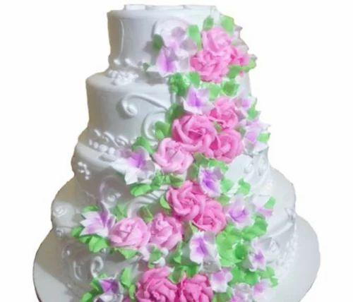 4 Tier Vanilla Wedding Cake