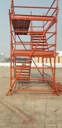ENEMAL PAINTED Mild Steel Cuplock Scaffolding System, For Construction