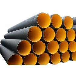 Black HDPE Double Wall Corrugated Pipes