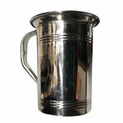 Silver Printed Stainless Steel Water Jug, For Home, Capacity: 1 Liter