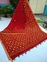 Embroidery cotton silk saree