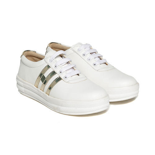 c227d172f Synthetic Trendy Look White Sneakers Shoes, Rs 250 /pair | ID ...