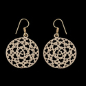 Ethnic Mandala Hoop Design Brass Boho Gypsy Earrings