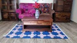 Cotton Handwoven Flat Weave Rug Handloom Dhurrie Cotton Floor Rug