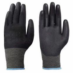 PU Coated Black Hand Glove