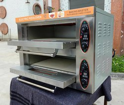 Electric Double Deck Pizza Oven With Stone