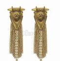 Eluceo Fashion Bohemian Gold Silver Tassel Ethnic Long Chains Tassel Dangle Long Earrings
