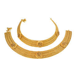antique gold plated classic payal