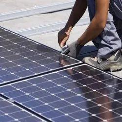 Grid Tie Manually Solar Panel Installation Service, For Industrial