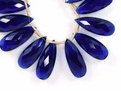 Blue Sapphire Quartz Pear Beads