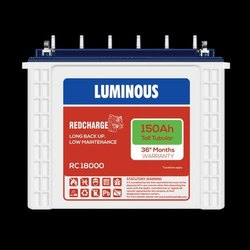 RC18000 Luminous 150 AH RedCharge Tall Tubular Battery, Warranty: 36 Months