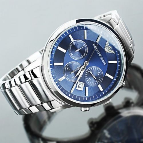 d92bc559be2 Silver Imported Emporio Armani AR2448 Classic Blue Dial Men s Watch ...